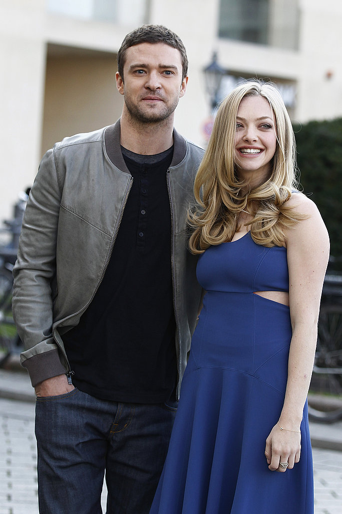 Justin Timberlake put his arm around his leading lady Amanda Seyfried.