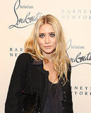 Ashley Olsen gave a smile at a Christian Louboutin event in NYC.
