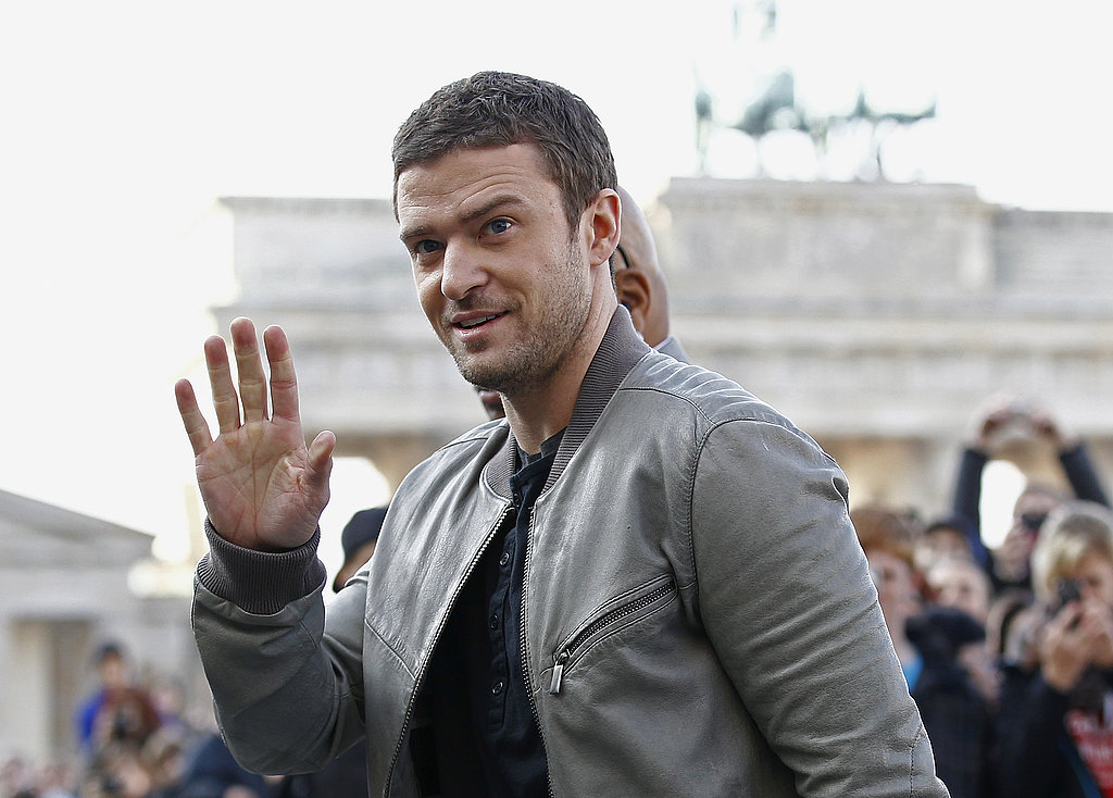Justin Timberlake waved to German fans.