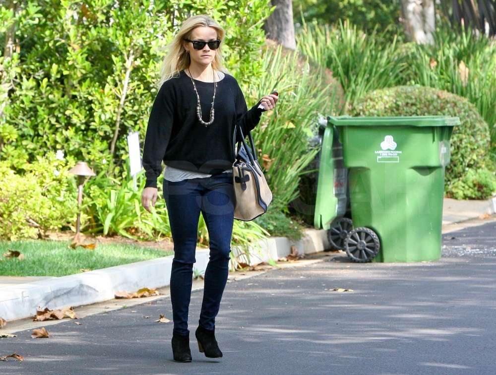 Reese Witherspoon hit the pavement in LA.