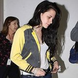Kristen Stewart had a bandaged right hand.