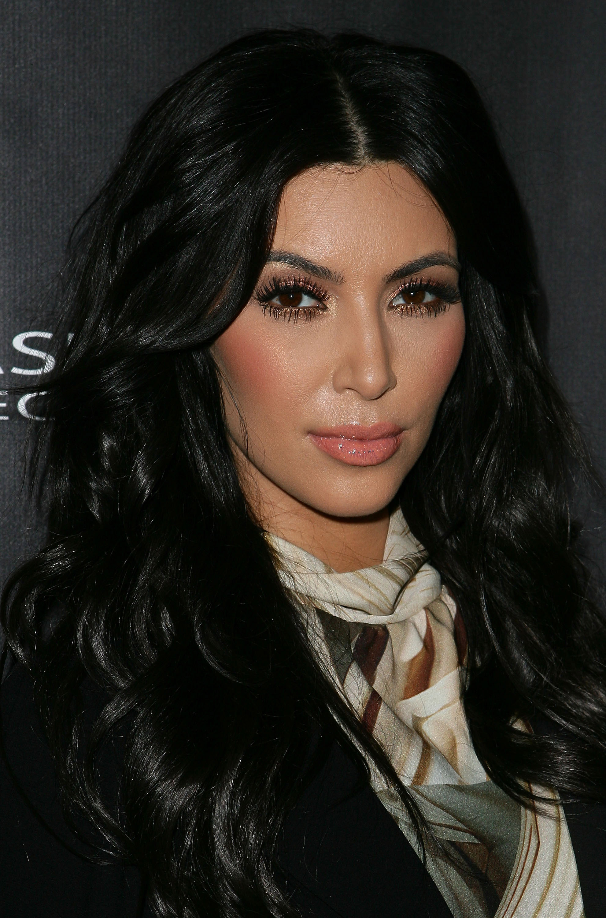 Kim Kardashian had peach cheeks in Sydney.