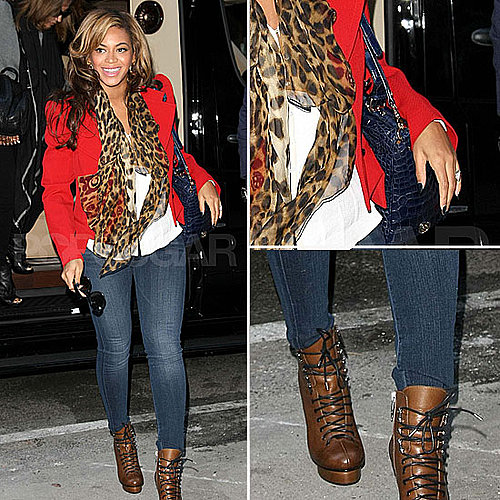 Celeb Style: Beyonc Rocks Leopard and Red