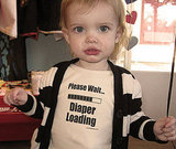 Please Wait . . . Diaper Loading Onesie