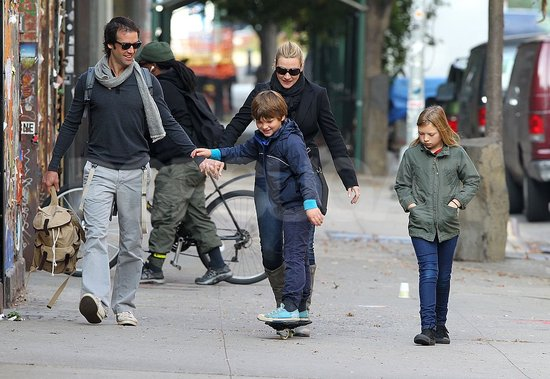 Kate Winslet, Ned Rocknroll, Mia Threapleton, and Joe Mendes took a stroll in NYC.