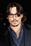 Johnny Depp sported a mustache and goatee at the event.