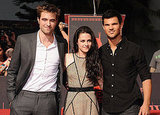Kristen Stewart, Robert Pattinson, and Taylor Lautner took one last picture together before making their mark on the Walk of Fame.