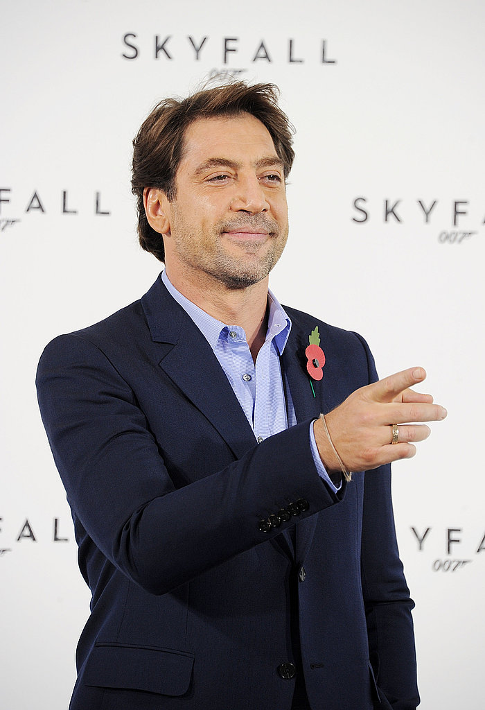 Javier Bardem promoted the latest Bond film, Skyfall.