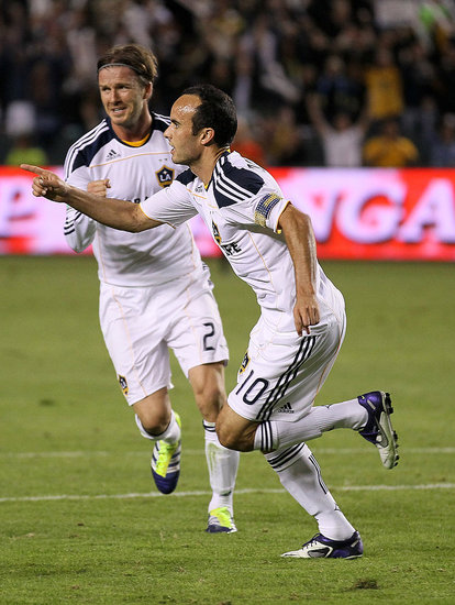 Landon Donovan and David Beckham shared some excitement.