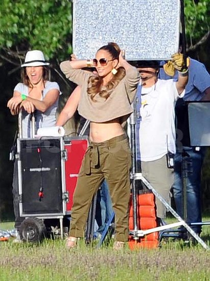 Jennifer Lopez Flashes Her Midriff as She Plays Talent Scout For TV