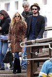 Sienna Miller and Tom Sturridge kept their shades on for a tour of Venice.