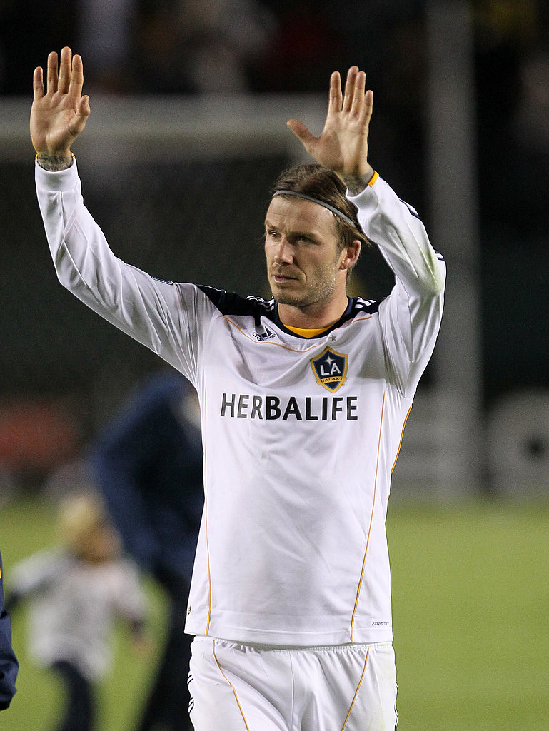 David Beckham waved to fans in LA.