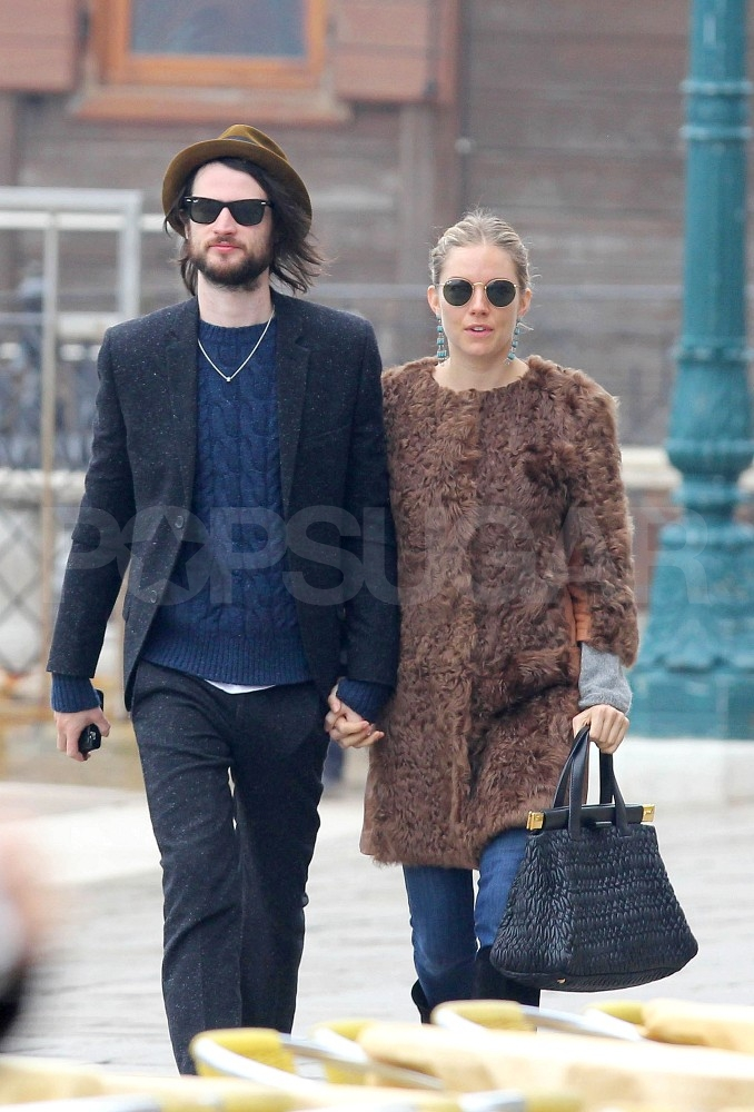 Tom Sturridge and Sienna Miller held hands in Venice.