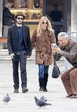 Sienna Miller and Tom Sturridge in St. Peter's Square.