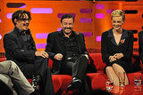 Carey Mulligan, Ricky Gervais and Johnny Depp shared a laugh on The Graham Norton Show.