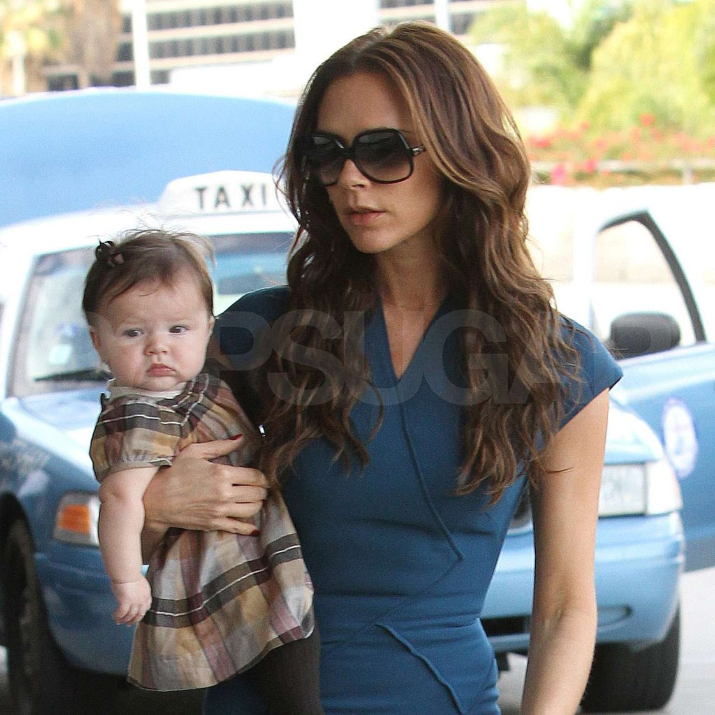 Victoria Beckham and Mini Fashion Plate Harper Jet Out of LA