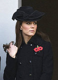 Kate Middleton combed her hair with her fingers.