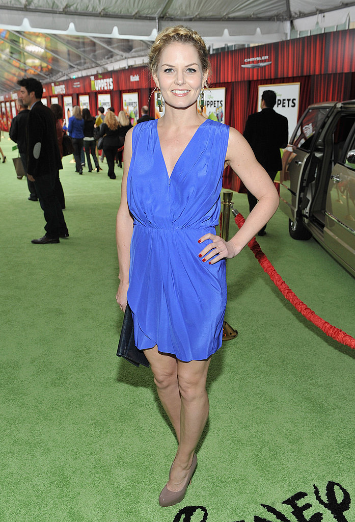Jennifer Morrison dazzled in a blue dress.
