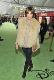 Lisa Rinna wore a fur vest to the morning premiere.