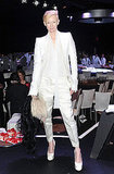 Tilda Swinton was a vision in white.