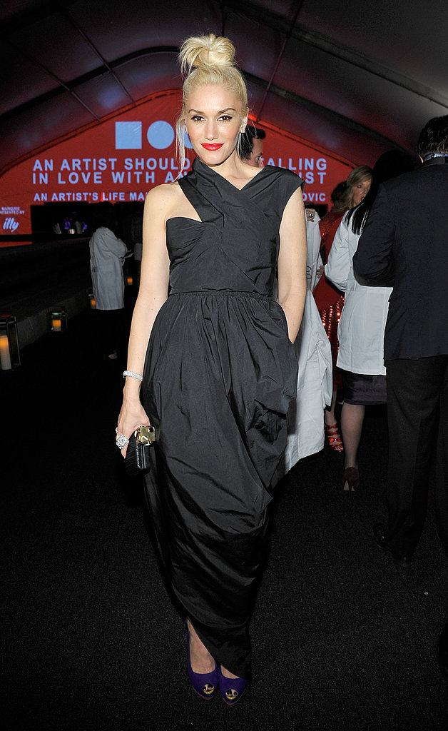 Gwen Stefani wore an asymmetrical dress to the MOCA.
