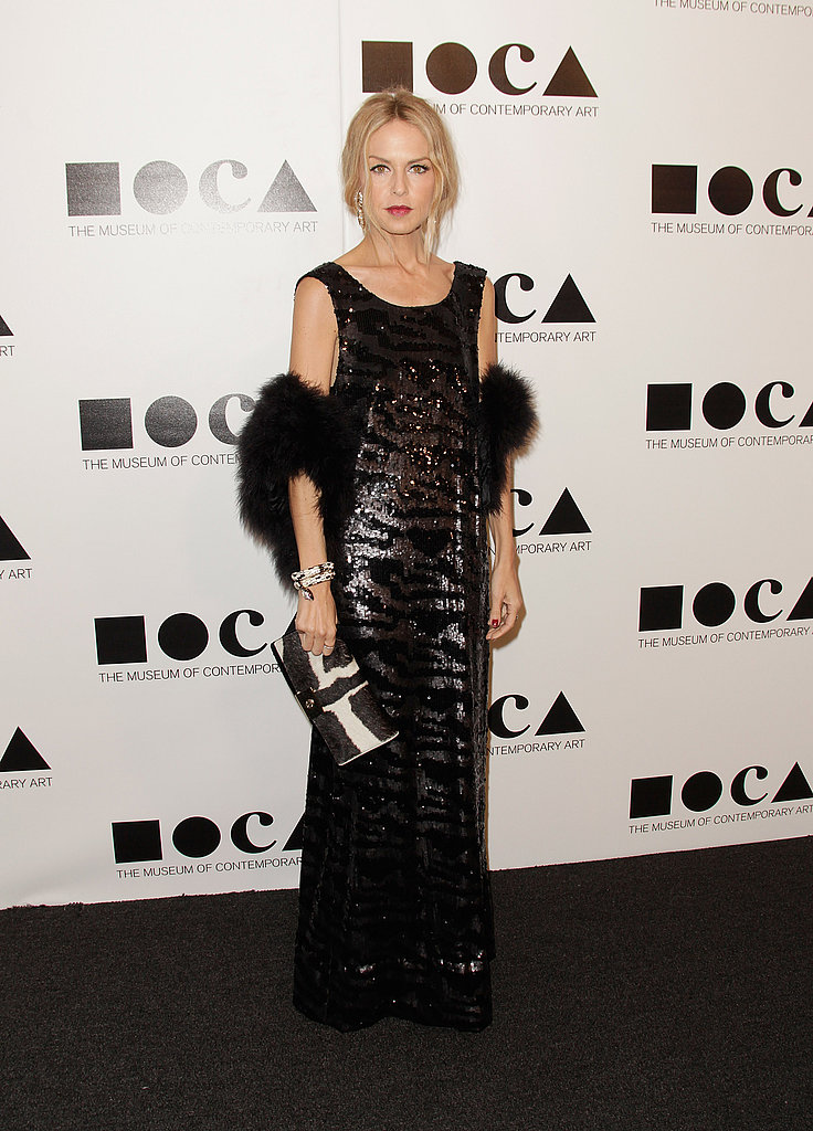 Rachel Zoe rocked a fur wrap to the MOCA Gala.