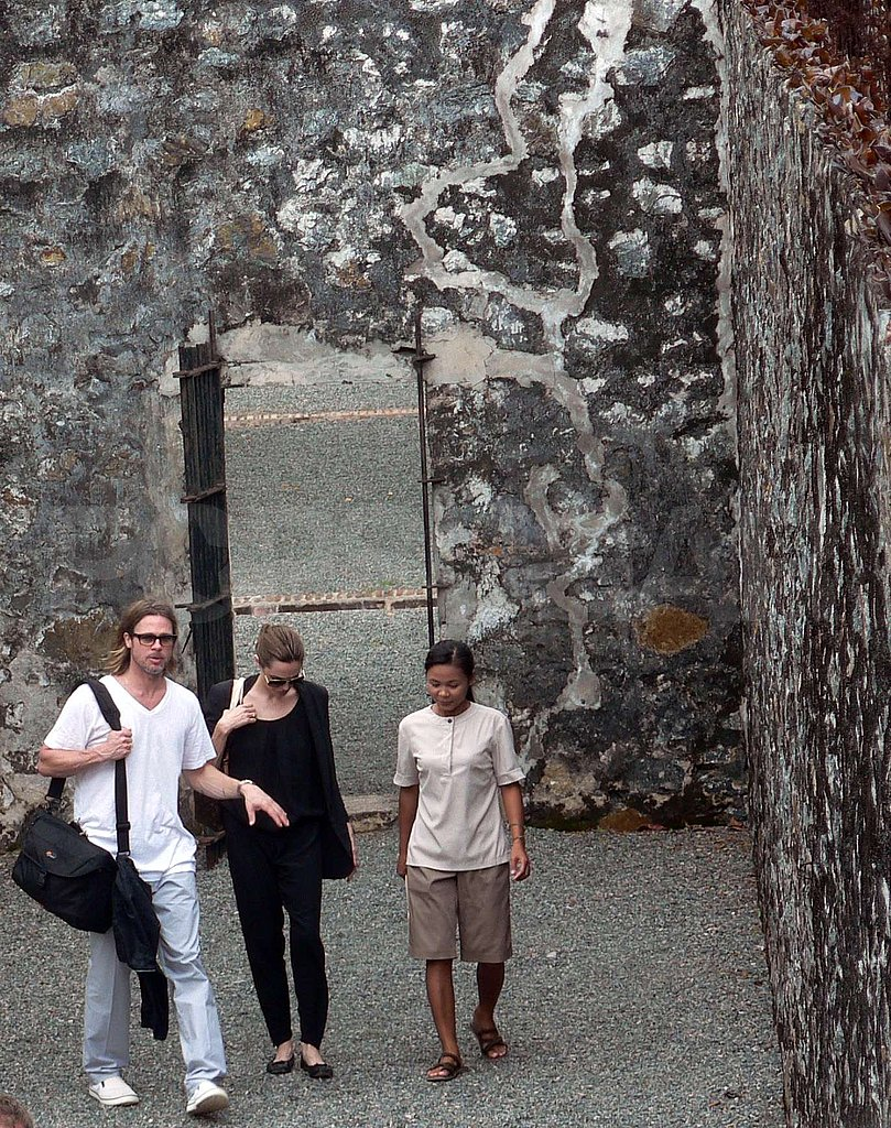 Brad Pitt and Angelina Jolie at Vietnam's Con Dao Museum.