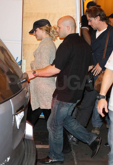 Britney Spears and Jason Trawick went to their car in Brazil.
