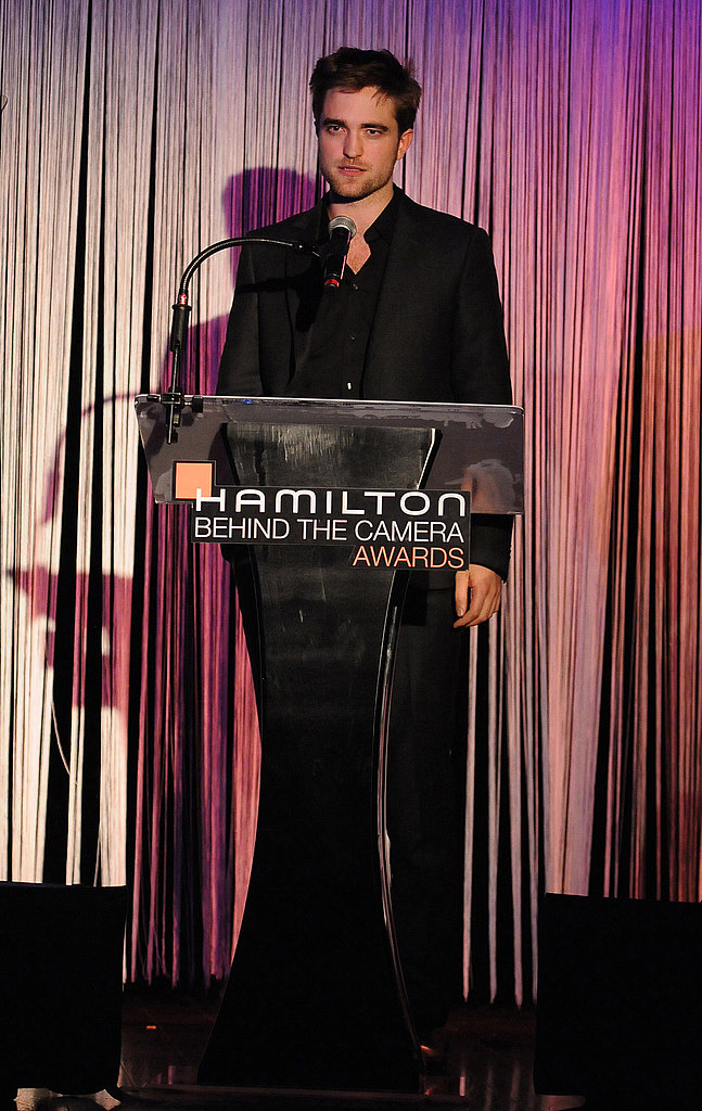Robert Pattinson spoke at an LA event.