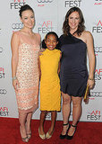 Olivia Wilde, Yara Shahidi, and Jennifer Garner spread their smiles wide for the AFI Fest screening of Butter.