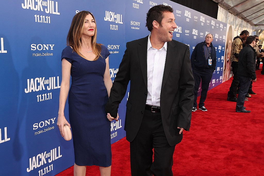 Adam Sandler led his wife, Jackie Sandler, down the red carpet.