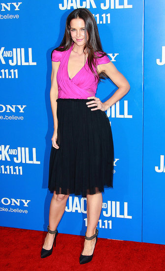 Katie Holmes Hits the Jack and Jill Red Carpet in Her Own Design!