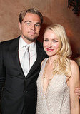 In November 2011, Leonardo DiCaprio posed with Naomi Watts at the afterparty for their film J. Edgar.