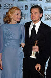 Leonardo DiCaprio posed with costar Cate Blanchett after winning the best actor award at the 2005 Golden Globes.