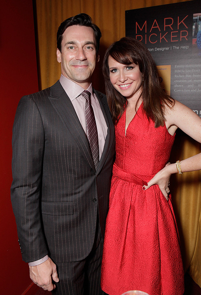 Jon Hamm and Janie Bryant caught up at the Hamilton Behind the Camera Awards in LA.