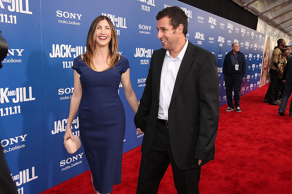 Adam Sandler and Jackie Sandler had the look of love on the red carpet in LA.