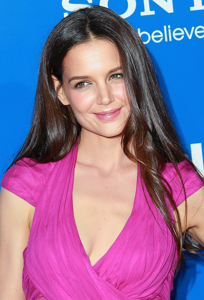 Katie Holmes was pretty in pink in LA.