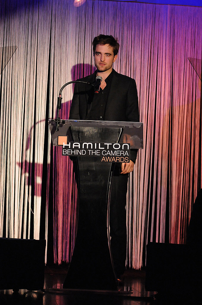 Robert Pattinson gave a speech at the Hamilton Behind the Camera Awards.