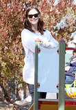 Jennifer Garner at the park.