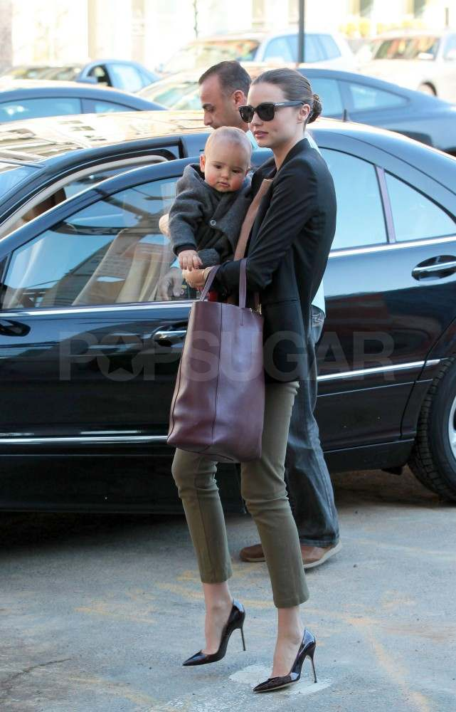 Miranda Kerr and Flynn in NYC.