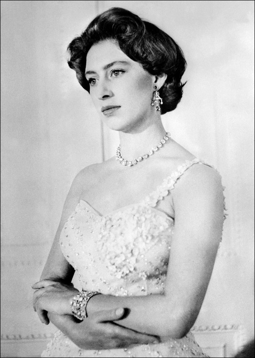 Princess Margaret posed for a photo on her 26th birthday in 1956.