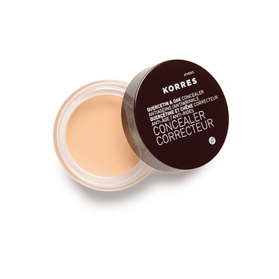 Korres Concealer Quercetin, $22  This feather-light concealer goes on smooth to hide dark under-eye circles — all with the anti-aging, anti-wrinkle help of Vitamin C-rich wild rose oil.