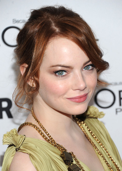 emma stone switched things up by coloring her hair from her signature