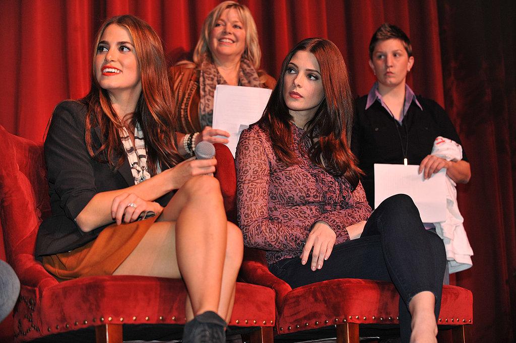 Nikki Reed and Ashley Greene promoting Breaking Dawn Part 1 in Georgia.