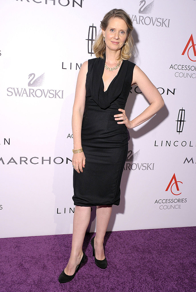 Cynthia Nixon in a simple and chic look for the 15th annual ACE Awards.