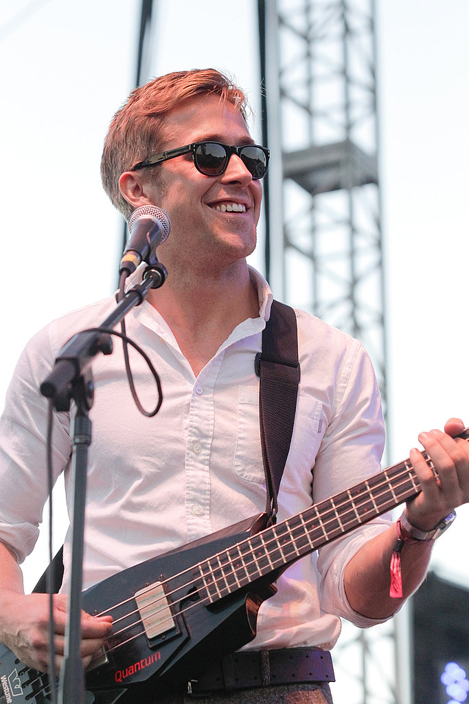 Ryan looked hot in a white button-down and dark sunglasses while performing with his band, Dead Man's Bones, during the FYF Fest in 2010.