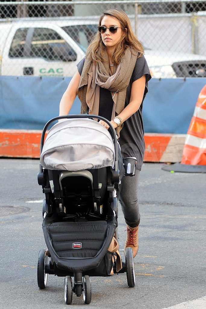 Jessica Alba out for a walk in NYC.