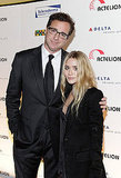 Bob Saget and Ashley Olsen posing in NYC.