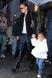 Jennifer Lopez and Emme Muñiz were greeted by fans in NYC.