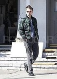 Matt Bellamy wearing plaid in LA.